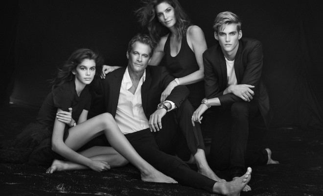kaia-gerber-cindy-crawford-omega-watches-campaign